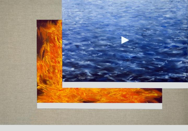 Philippe Hurteau, écran, peinture